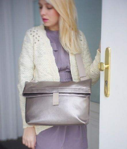 Folding bag/ silver