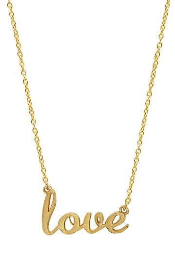 "I like this! Erica Anenberg ""Love"" Script Necklace"