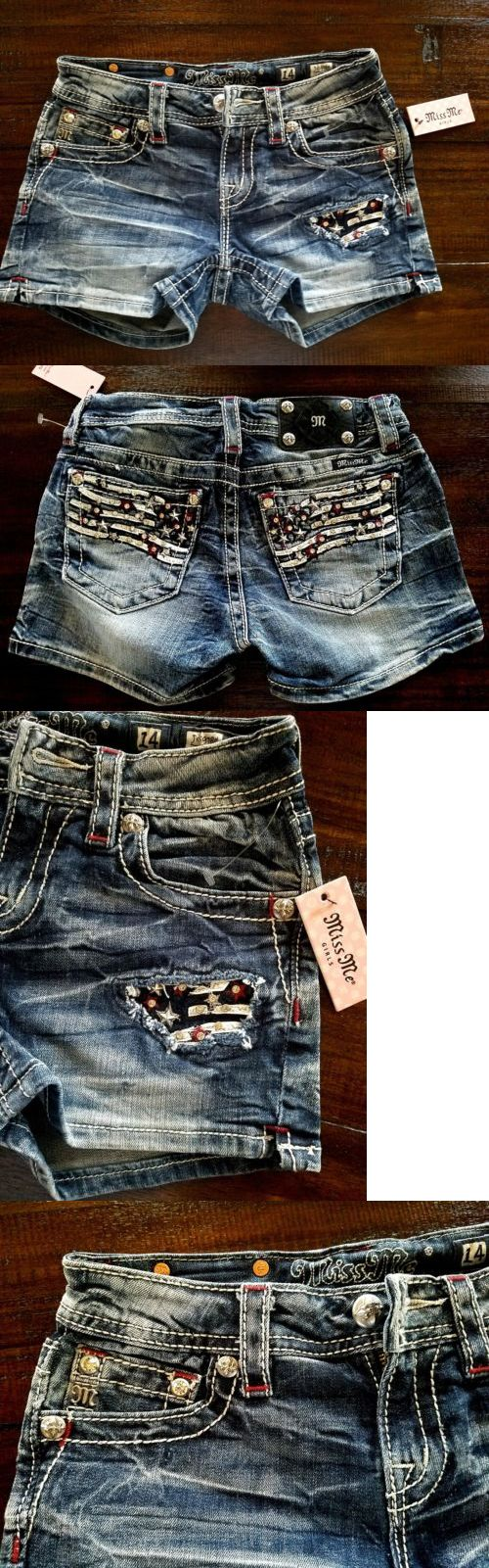Shorts 15648: Nwt Girl S Miss Me Jeans American Flag Shorts Size 14 -> BUY IT NOW ONLY: $39.5 on eBay!