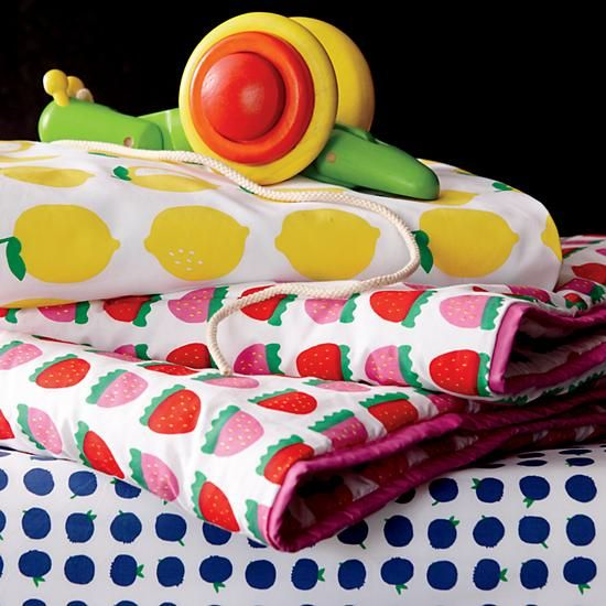 Farmer's Market Fruit Print Baby Bedding