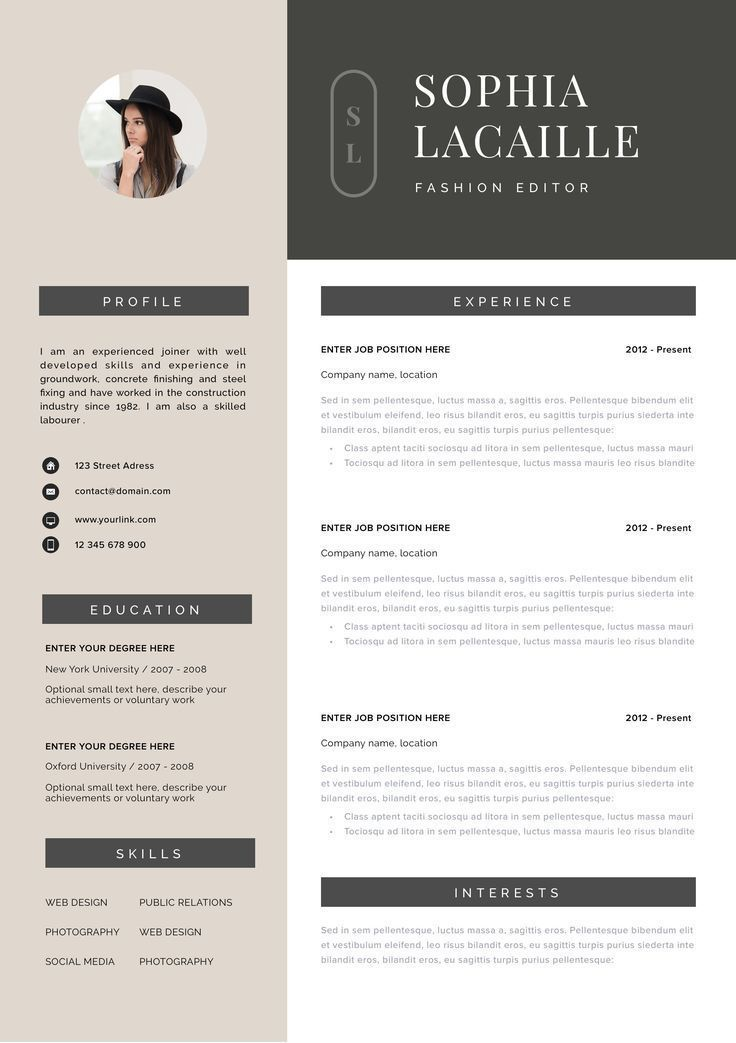 Resume Template Instant Download Resume Cv Template Cv Design Curriculum Vitae Cv Instant Download Resume Resume Templates Cv Resume Template Download Resume Photography Resume
