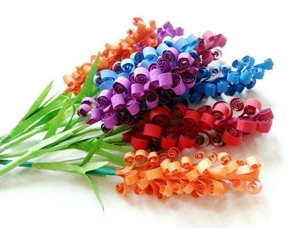 Цветы. Поделки из бумаги для детей