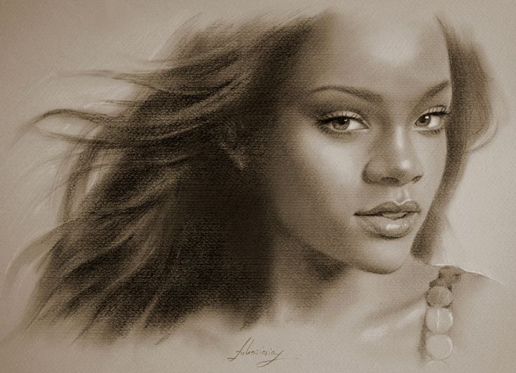 Celebrity Pencil Portraits - Rihanna