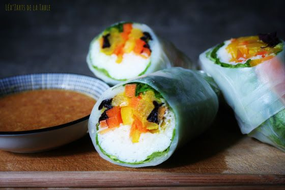 rolls with mustard soy sauce williams sonoma mint pickled carrots ...