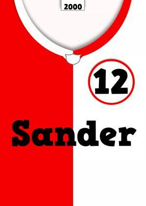 voetbal shirt tekst zelf invullen e - Verjaardagskaarten - Kaartje2go