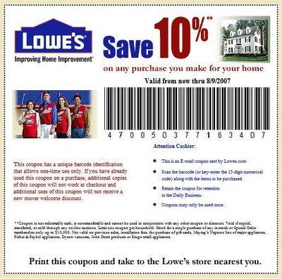 Http Www Lowes And All Home Depot Coupons Are Accepted