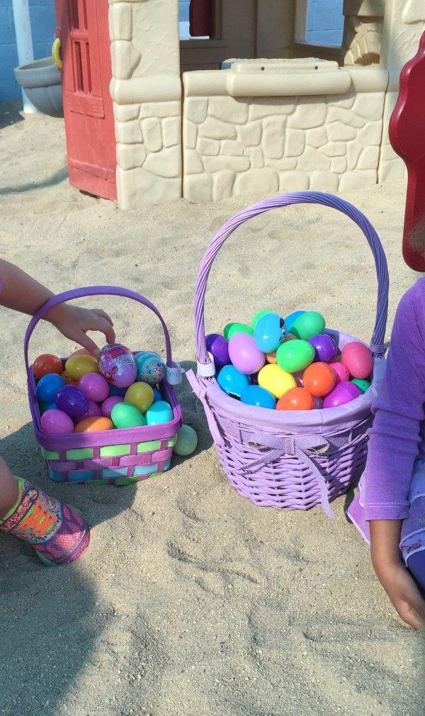 Playing Easter egg hunt!http://babyglitter.com/blog/easter-egg-hunt/