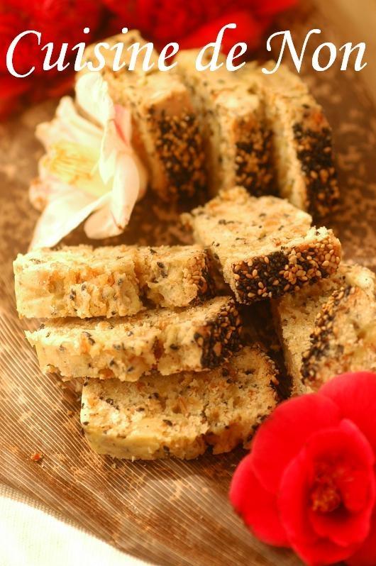 パン代わりに☆白黒胡麻ごま干しエビのケークサレ | 美肌レシピ
