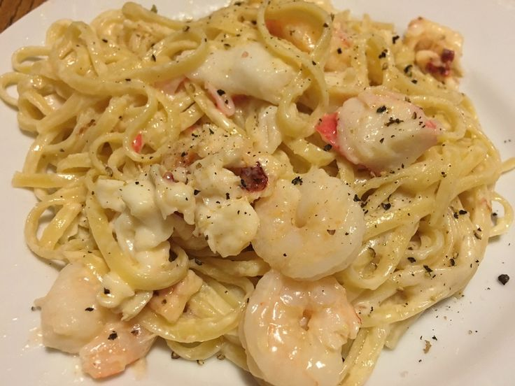 Lobster, shrimp & crab alfredo - can you say YUM?!