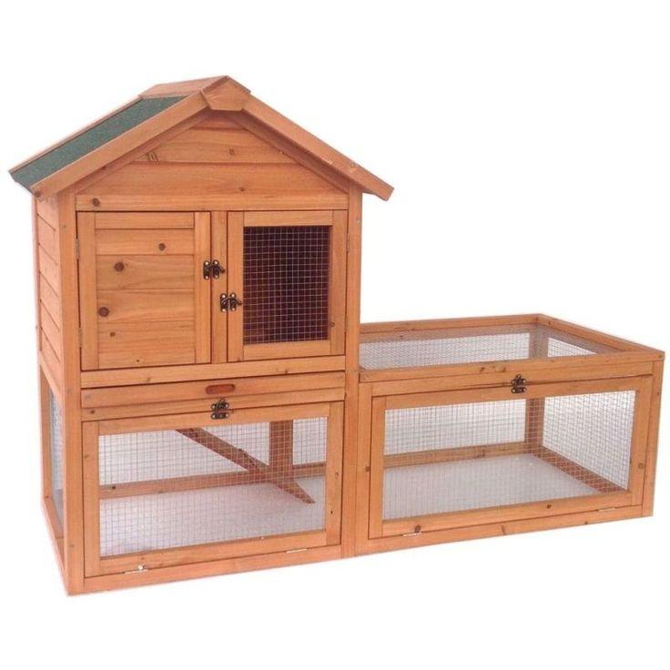 25 best ideas about double rabbit hutch on pinterest. Black Bedroom Furniture Sets. Home Design Ideas