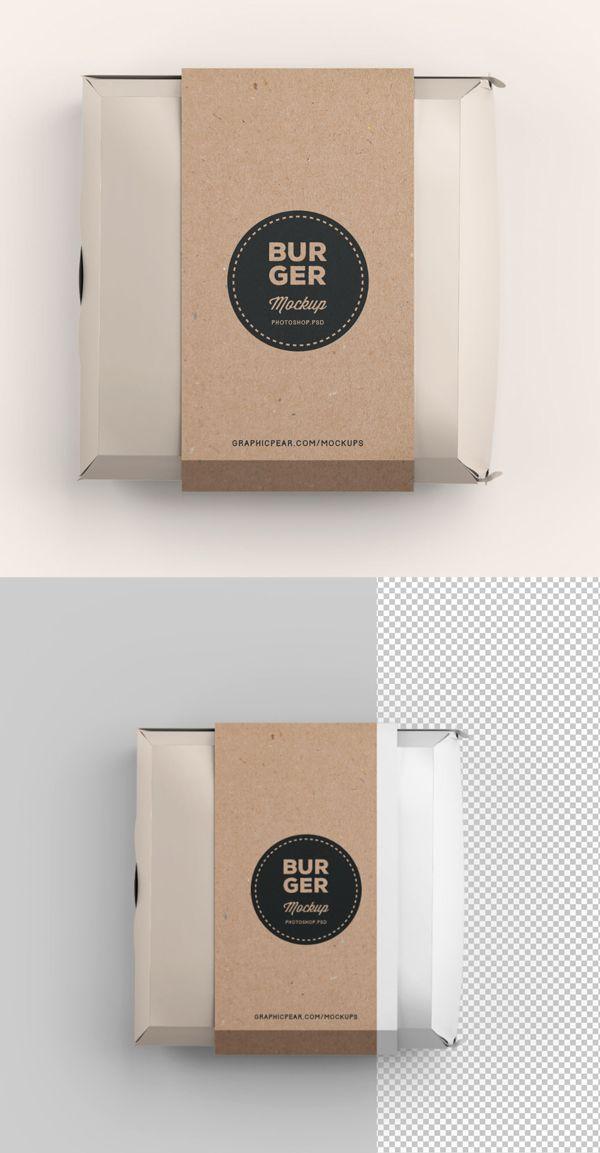 Download Free Psd Mockup Templates 32 Fresh Mock Ups Freebies Graphic Design Junction Burger Packaging Burger Box Branding Mockups