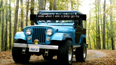 There's a blue jeep in the student parking lot of my school, and I always think of Stiles when I see it.