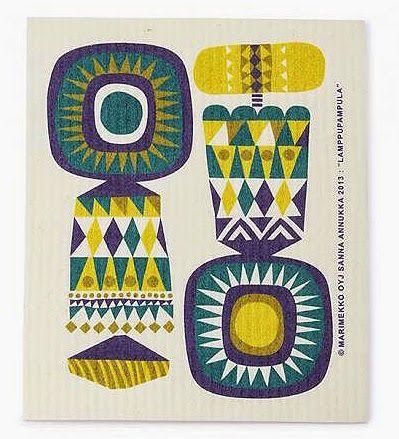print & pattern blog: MARIMEKKO - lamppupampula dishcloth by Sanna Annukka
