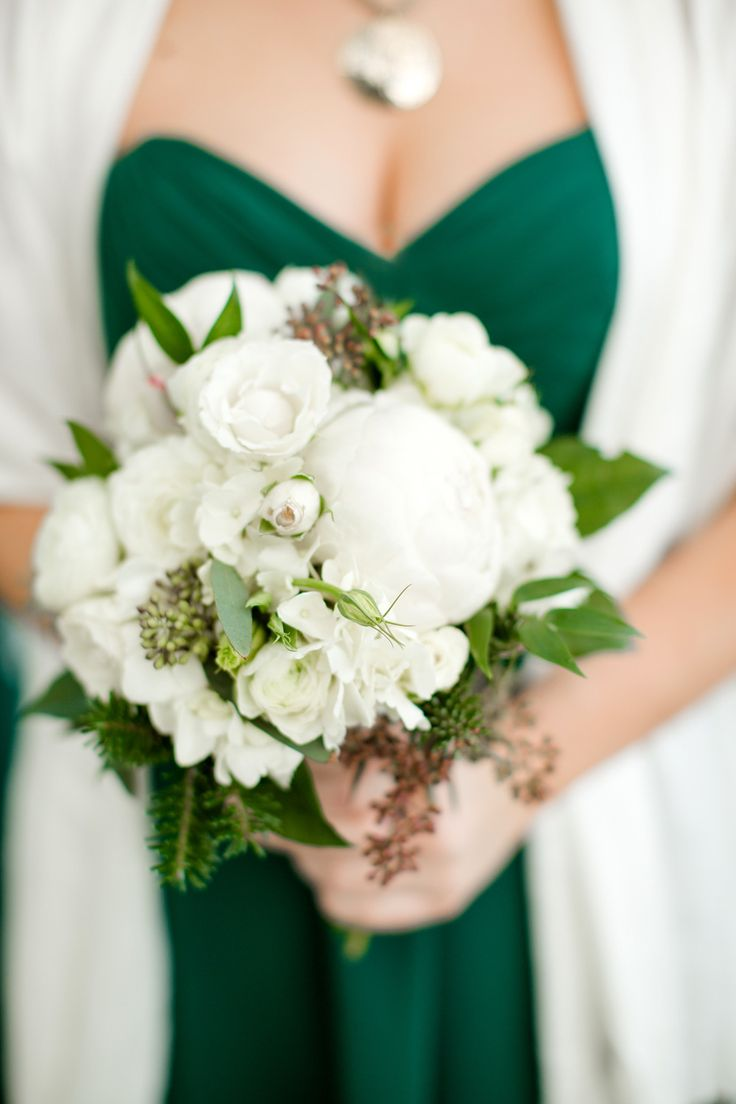 These forest flowers make a beautiful bouquet for this Pantone themed wedding.