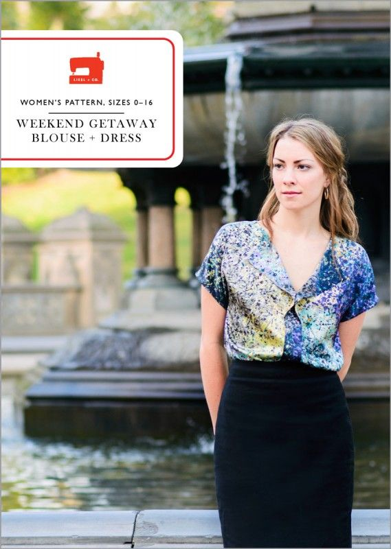 women's blouse and dress sewing pattern from liesl and co