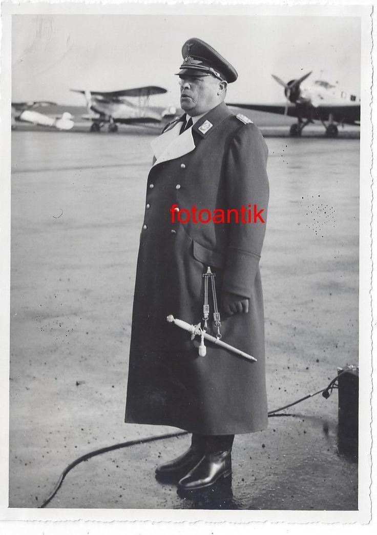 GFM Sperrle   Foto 2 WK, Portrait, General der Luftwaffe, Uniform, Mantel, Dolch, Flugzeug,Top | eBay