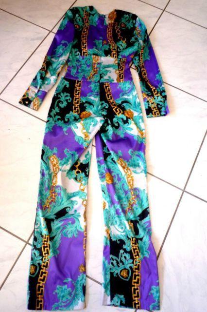 Authentic vintage versace jumpsuit by DeLaCreationVintage on Etsy