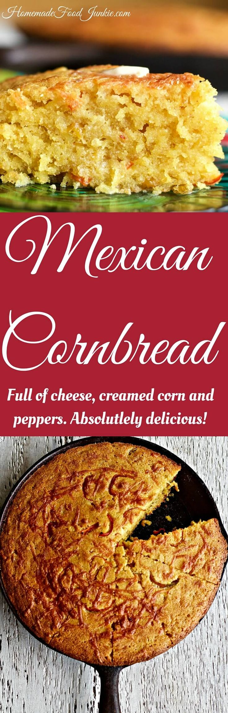 Mexican Cornbread by HomemadeFoodJunkie.com #cornbread #mexicancornbread  #cornbreadrecipes #sidedish