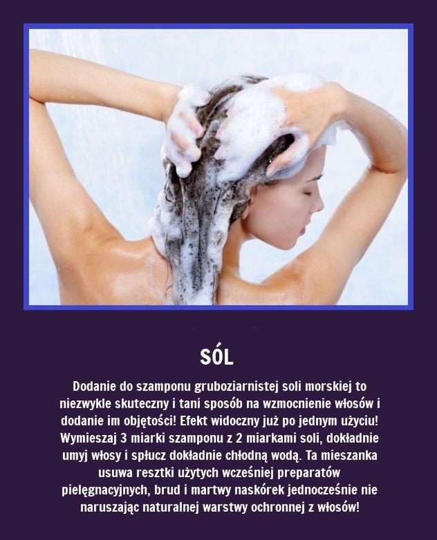 Czy wiecie, że dodanie do szamponu gruboziarnistej soli...