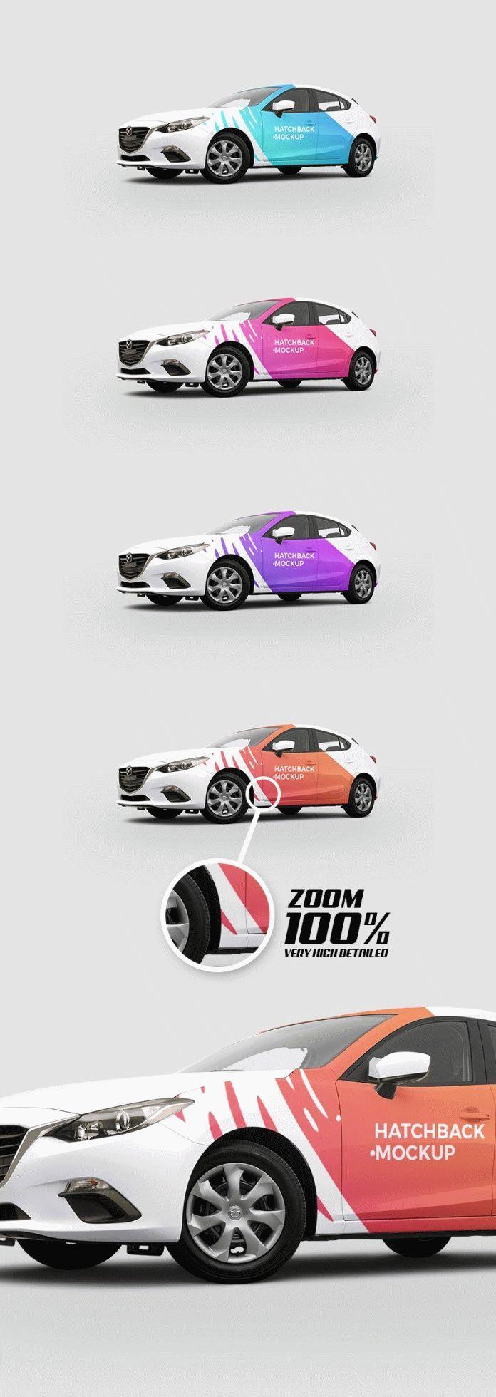Free Hatchback Car Mockup Psd Mockupfree Co Car Sticker Design Mockup Free Psd Car Wrap Design