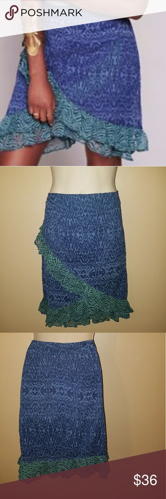 Free People Skirt Free People blue green skirt size 10 see photos of measurements Free People Skirts