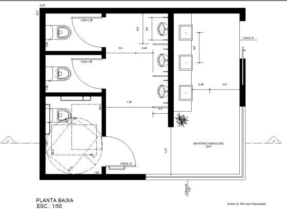 Medidas Banheiro Planta Baixa : Melhores ideias de medidas banheiro no