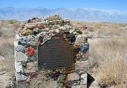 Swansea - Swansea is an unincorporated community in Inyo County, California.[1] It is located 8.5 miles (14 km) south of New York Butte,[2] at an elevation of 3,661 ft (1,116 m).[1] Swansea was a boomtown located on the eastern shore of Owens Lake. Spawned by the success of the silver mining operations in the nearby Cerro Gordo Mines in the late 1860s, Swansea became a hub for smelting the ore and transporting the resulting ingots to Los Angeles, over 200 miles away.