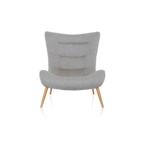 Design-Sessel, Salz- und Pfeffermuster, Retro-Look Vorderansicht