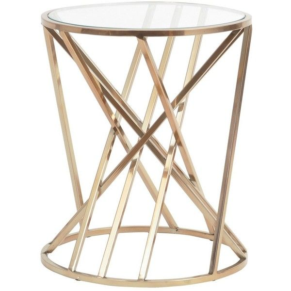 Twist Round Side Table In Copper ($470) ❤ Liked On Polyvore Featuring Home,