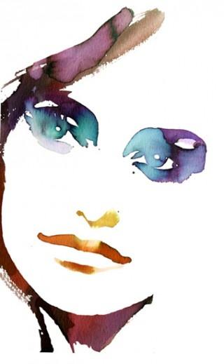 Stina Persson - Portrait Aquarelle