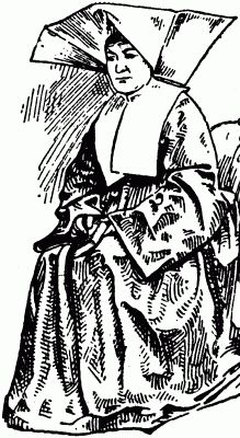 french cornette | gif New Catholic Dictionary illustration of a cornette