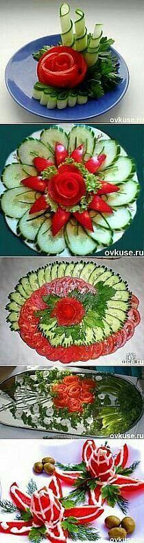 Decoração de salada - prato de frius