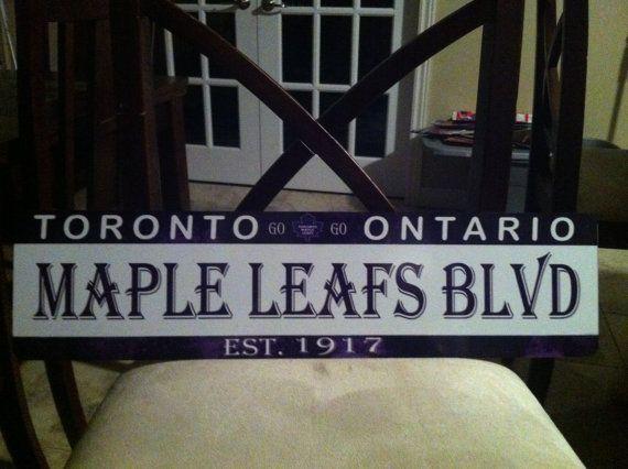 "NHL Toronto Maple Leafs ""STREET SIGN"" decal Canadiens Penguins Flames senators Bruins on Etsy, $9.28"