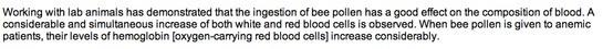 Must-read about the health benefits of bee pollen  http://www.mercola.com/article/diet/bee_pollen.htm