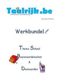 Werkbundel thema school om met anderstalige nieuwkomers en leerlingen Nederlands te oefenen. Deze werkbundel biedt een gevarieerd aanbod aan oefeningen, spelideeën, doeopdrachten en evaluatiemogelijkheden. De leerlingen kunnen met begeleiding of zelfstandig aan het werk.