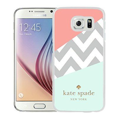 Fashionable Custom Designed Kate Spade Cover Case For Samsung Galaxy S6 White Phone Case 108