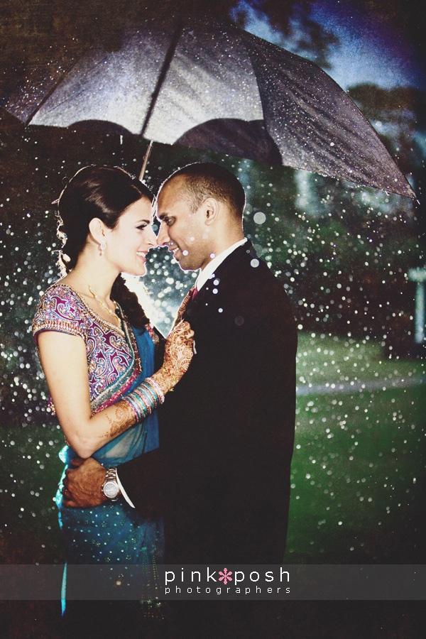 Pink Posh Photography Hindu Wedding, Hindu Wedding in the Rain.  BelleRose Maison  Houston Texas Indian Wedding
