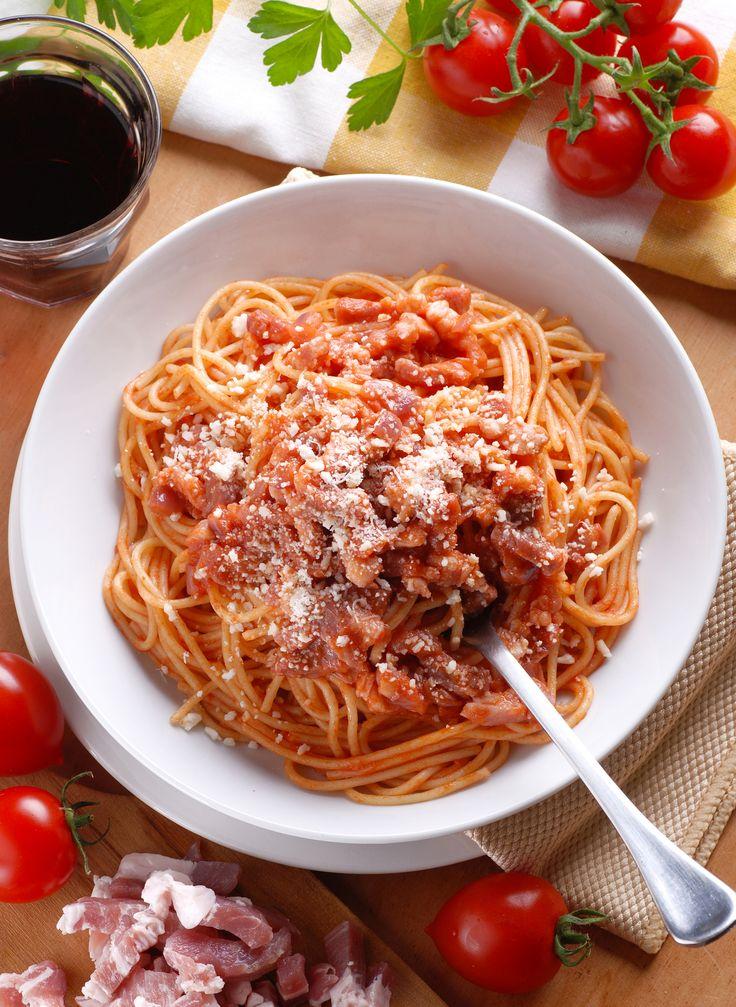 Spaghettis al amatriciana