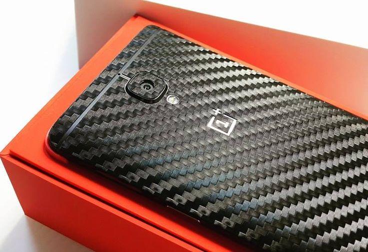 Folii Carbon 3M Black Oneplus 3