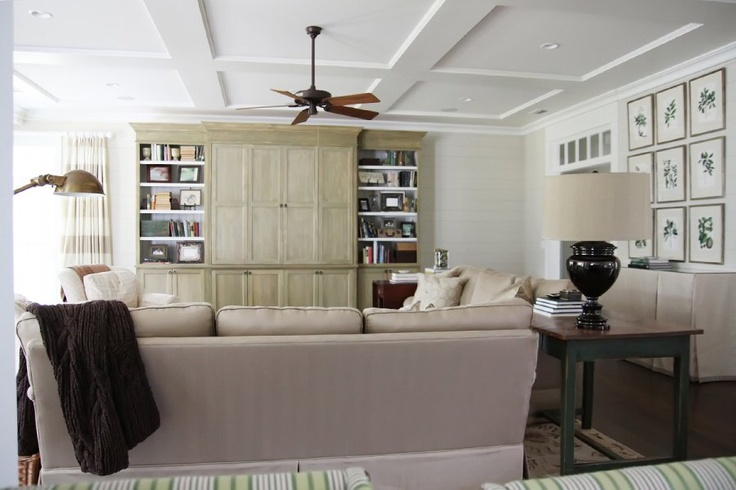 shallow coffered ceiling at home the o