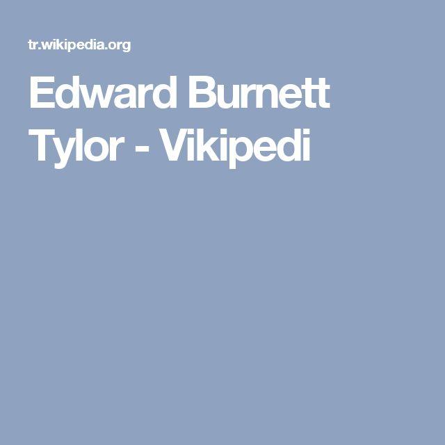 Edward Burnett Tylor - Vikipedi