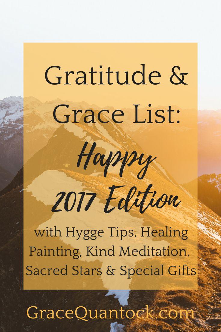 Gratitude & Grace List: Happy 2017 Edition