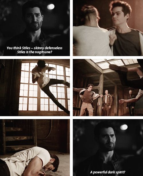 I wonder how much fun Dylan had throwing Tyler around since Derek is always throwing Stiles around.
