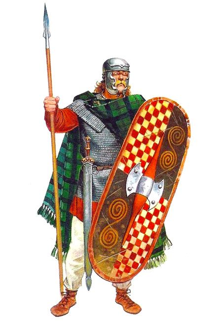 Gallic noble, mid 1st century. His weaponry is of mixed periods, with the latest…