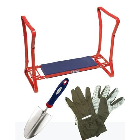 Reclinatorio con pala y guantes de Spear & Jackson en www.achica.es