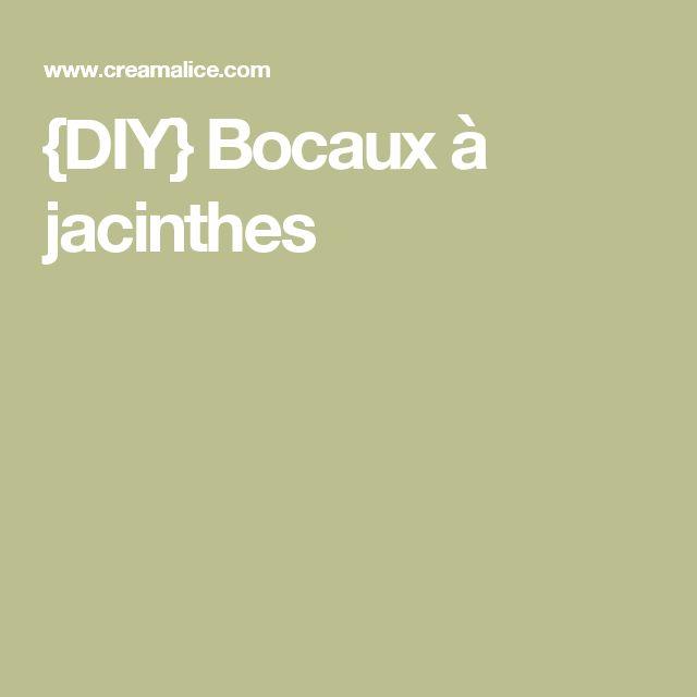 {DIY} Bocaux à jacinthes
