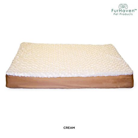 Furhaven Deluxe Large Orthopedic Pet Mattress - Assorted Colors at 54% Savings off Retail!