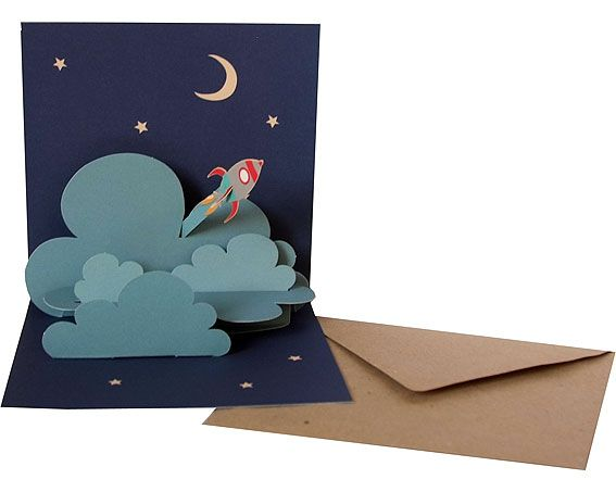 "Pop-up-card ""Rocket"""