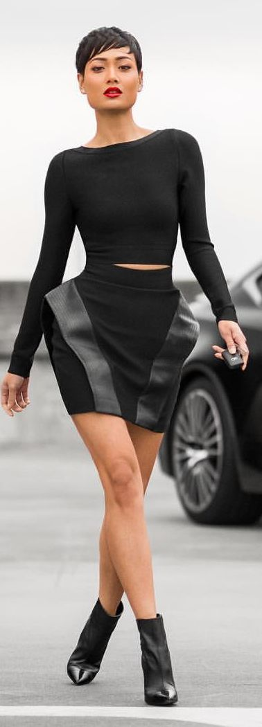 Everything Black Outfit Idea by Micah Gianneli