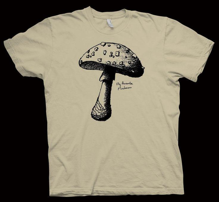 Fly Amanita Mushroom T-Shirt , Botanics ,Botanology , Science , Nerd ,Tee , Geek - T-Shirts